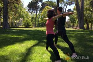 yoga en el parque madrid